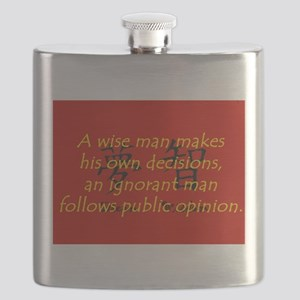 A Wise Man Makes His Own Decisions Flask