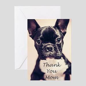 Thank You Mom French Bulldog Greeting Cards
