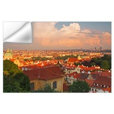 View Of Prague Rooftops From Castle Hill; Prague,  Wall Decal