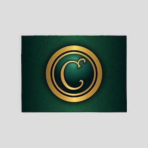 Irish Monogram C 5'x7'Area Rug