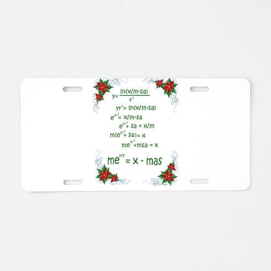 Christmas Math Aluminum License Plate