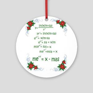 Math Christmas Ornaments - CafePress