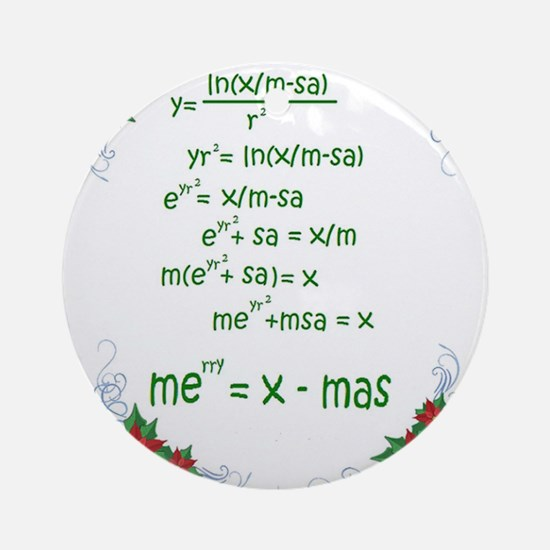 Christmas Math Ornament (Round)