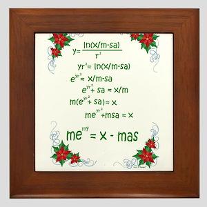 Christmas Math Framed Tile