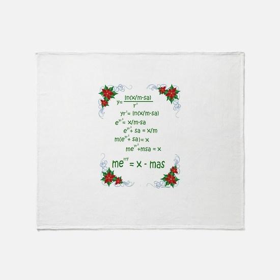 Christmas Math Throw Blanket