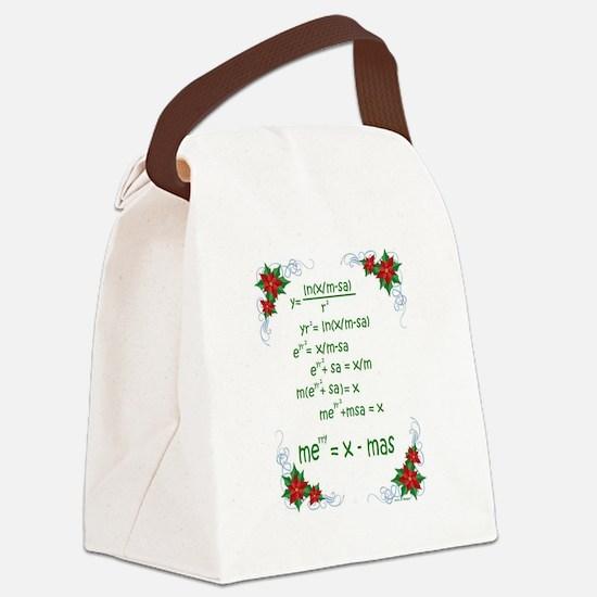 Christmas Math Canvas Lunch Bag