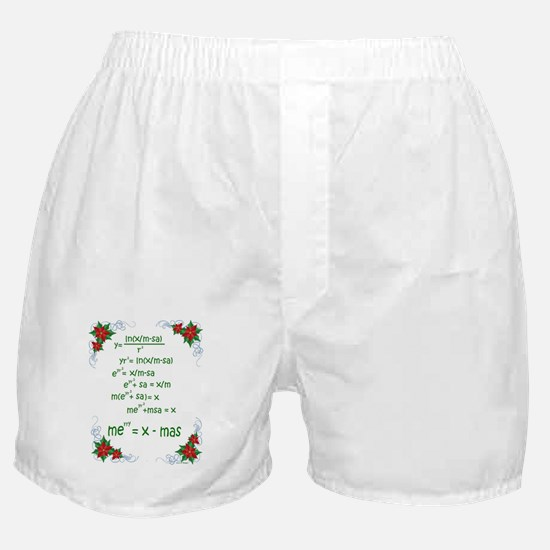 Christmas Math Boxer Shorts