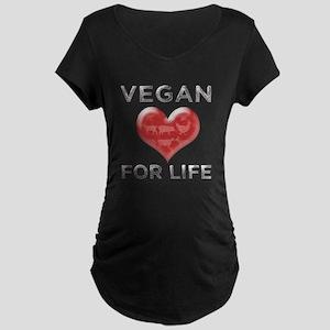 Vegan For Life Maternity Dark T-Shirt