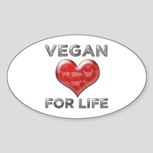 Vegan For Life Sticker (Oval)
