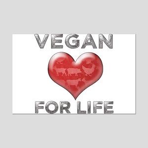 Vegan For Life Mini Poster Print