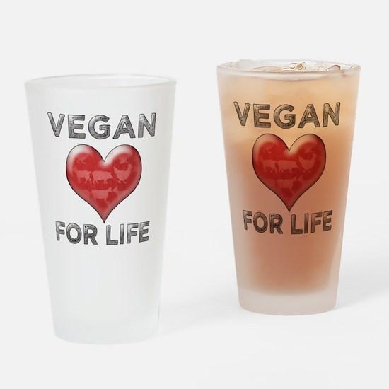 Vegan For Life Drinking Glass