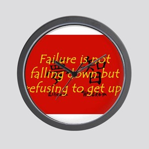 Failure Is Not Falling Down Wall Clock