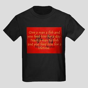 Give a Man A Fish Kids Dark T-Shirt