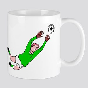 Soccer Goalie Diving Save Mugs