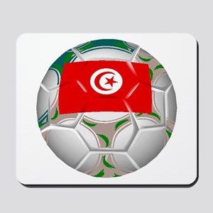Tunisia Soccer Ball Mousepad