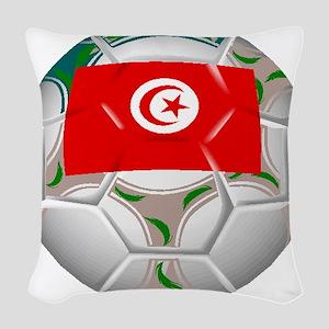 Tunisia Soccer Ball Woven Throw Pillow