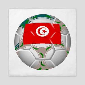 Tunisia Soccer Ball Queen Duvet