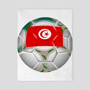 Tunisia Soccer Ball Twin Duvet