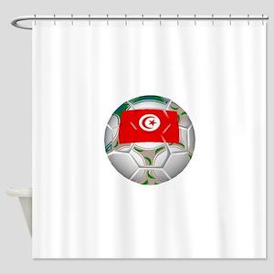 Tunisia Soccer Ball Shower Curtain