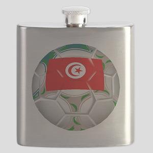 Tunisia Soccer Ball Flask