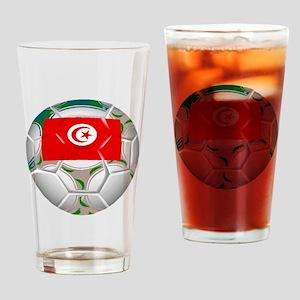 Tunisia Soccer Ball Drinking Glass