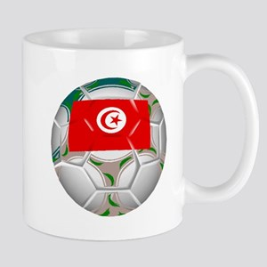 Tunisia Soccer Ball Mugs