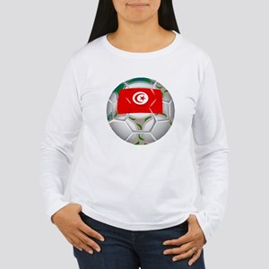 Tunisia Soccer Ball Long Sleeve T-Shirt