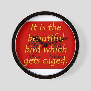 It Is the Beautiful Bird Wall Clock