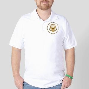 Gold Presidential Seal Golf Shirt