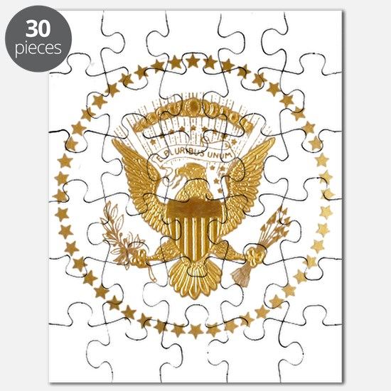 Gold Presidential Seal Puzzle