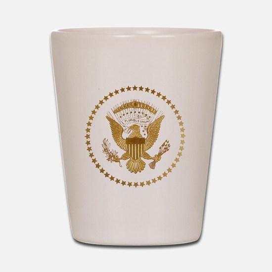 Gold Presidential Seal Shot Glass
