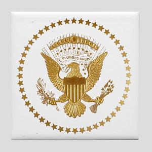 Gold Presidential Seal Tile Coaster