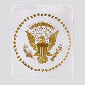 Gold Presidential Seal Throw Blanket