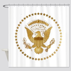 Gold Presidential Seal Shower Curtain