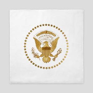 Gold Presidential Seal Queen Duvet