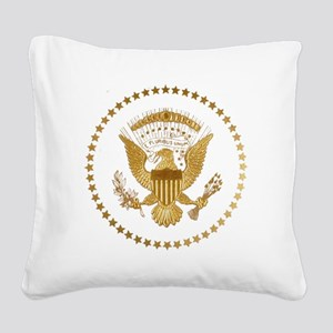 Gold Presidential Seal Square Canvas Pillow