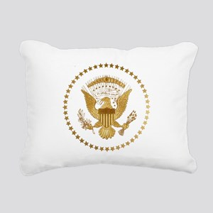 Gold Presidential Seal Rectangular Canvas Pillow