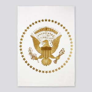 Gold Presidential Seal 5'x7'Area Rug