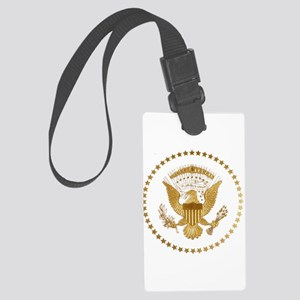 Gold Presidential Seal Large Luggage Tag
