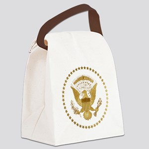 Gold Presidential Seal Canvas Lunch Bag