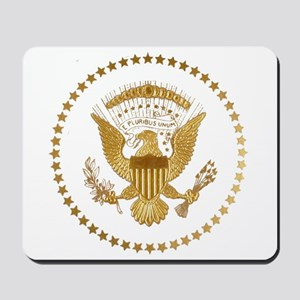 Gold Presidential Seal Mousepad