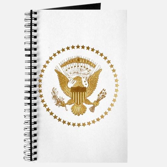 Gold Presidential Seal Journal