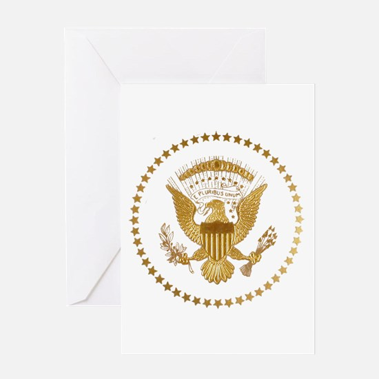 Gold Presidential Seal Greeting Card