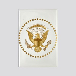 Gold Presidential Seal Rectangle Magnet