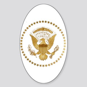 Gold Presidential Seal Sticker (Oval)