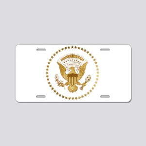 Gold Presidential Seal Aluminum License Plate