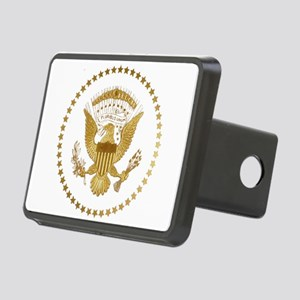 Gold Presidential Seal Rectangular Hitch Cover