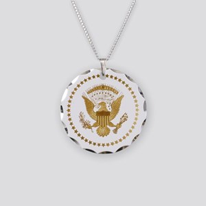 Gold Presidential Seal Necklace Circle Charm