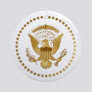 Gold Presidential Seal Ornament (Round)