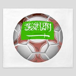 Saudi Arabia Soccer Ball King Duvet